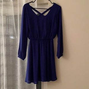 size small blue cocktail dress